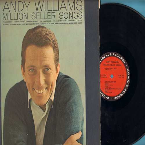 Williams, Andy - Million Seller Songs: It's All In The Game, Butterfly, So Rare, Twilight Time, Canadian Sunset, The Three Bells (Vinyl MONO LP record) - EX8/VG7 - LP Records
