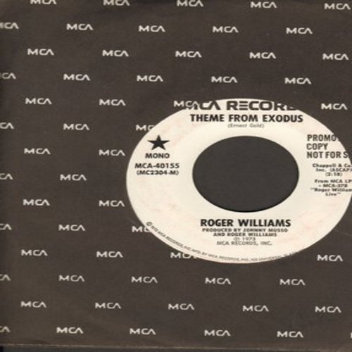 Williams, Roger - Theme From Exodus (double-A-sided DJ pressing with MONO and STEREO version) - NM9/ - 45 rpm Records