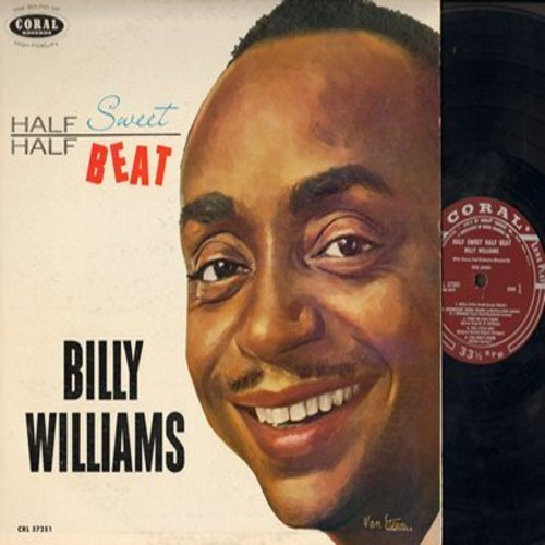 Williams, Billy - Half Sweet Half Beat: Nola, Goodnight Irene, Red Hot Love, You Don't Know, Smack Dab In The Middle (Vinyl MONO LP record,  1959 blue label DJ advance pressing) (woc) - EX8/EX8 - LP Records