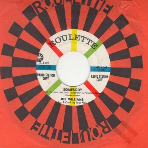 Williams, Joe - Somebody/One Is A Lonesome Number (DJ advance pressing with Roulette company sleeve) - M10/ - 45 rpm Records