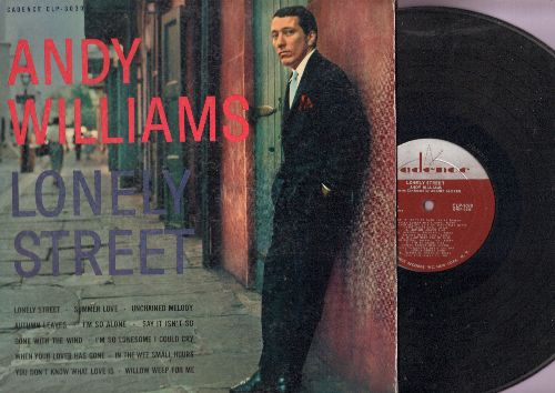Williams, Andy - Lonely Street: Summer Love, Unchained Melody, Gone With The Wind (Vinyl MONO LP record) - NM9/EX8 - LP Records