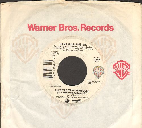 Williams, Hank Jr. - There's A Tear In My Bear/You Brought Me Down To Earth (with Warner Brothers company sleeve) - EX8/ - 45 rpm Records