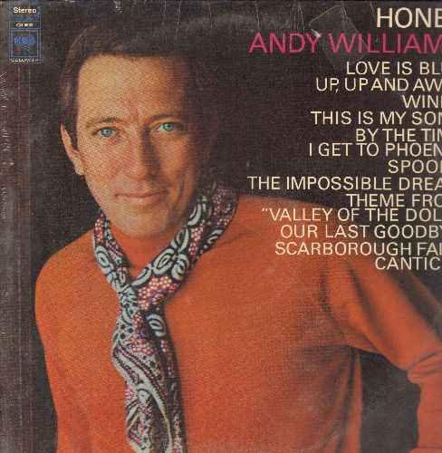 Williams, Andy - Honey: Love Is Blue, Windy, The Impossible Dream, Up Up And Away, This Is My Song (Vinyl STEREO LP record, SEALED) - SEALED/SEALED - LP Records