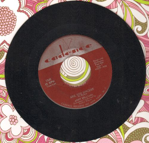 Williams, Andy - Are You Sincere/Be Mine Tonight - VG7/ - 45 rpm Records