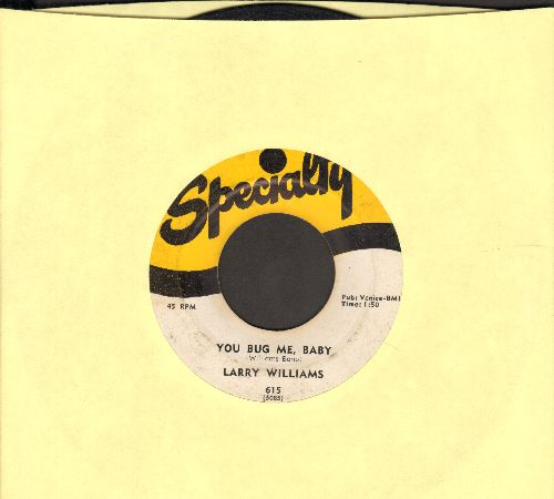 Williams, Larry - You Bug Me Baby/Bony Moronie  - G5/ - 45 rpm Records