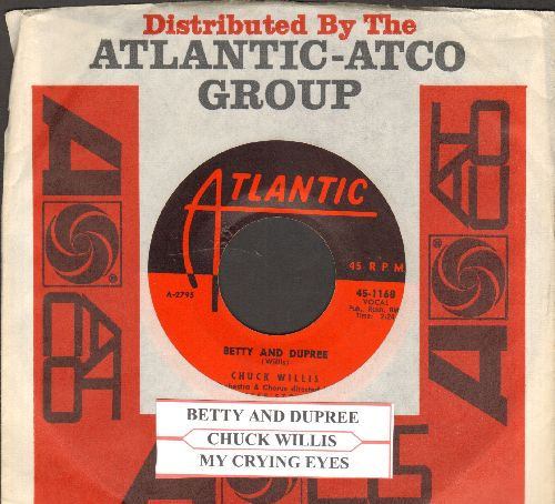 Willis, Chuck - Betty And Dupree/My Crying Eyes (with juke box label and  Atlantic company sleeve) - NM9/ - 45 rpm Records