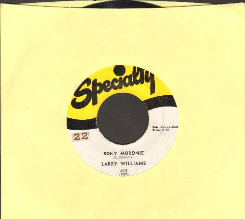 Williams, Larry - Bony Moronie/You Bug Me, Baby (ssol) - EX8/ - 45 rpm Records