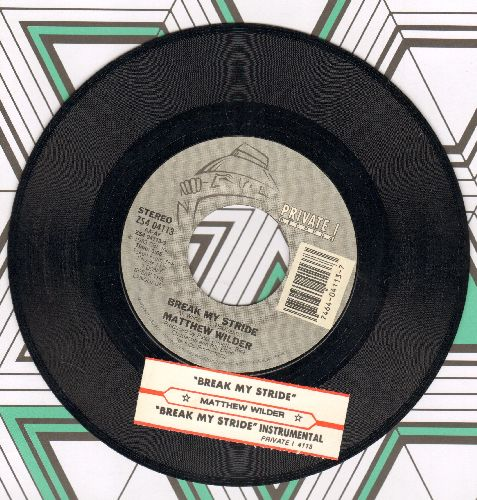 Wilder, Matthew - Break My Stride/Break My Stride (instrumental) (with juke box label) - EX8/ - 45 rpm Records