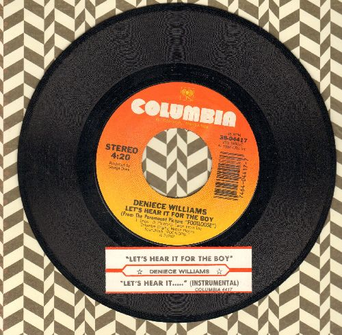 Williams, Deniece - Let's Hear It For The Boy (2 versions of Classic Theme Song/Dance Hit) (From film -Footloose-) (with juke box label) - EX8/ - 45 rpm Records