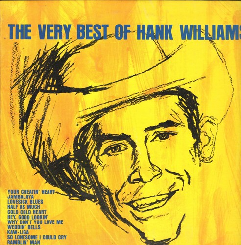Williams, Hank - The Very Best Of: Your Cheatin' Heart, Jambalaya, Cold Cold Heart, Hey Good Lookin', Honky Tonkin', So Lonesome I Could Cry (vinyl MONO LP record, re-issue of vintage recordings) - NM9/NM9 - LP Records