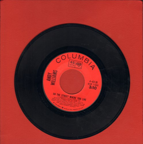 Williams, Andy - On The Street Where You Live/Almost There - VG7/ - 45 rpm Records