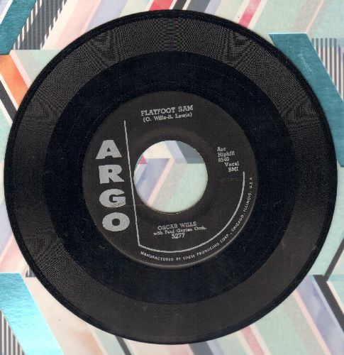 Wills, Oscar with  Paul Gayten & His Band - Nervous Boogie/Flatfoot Sam - NM9/ - 45 rpm Records