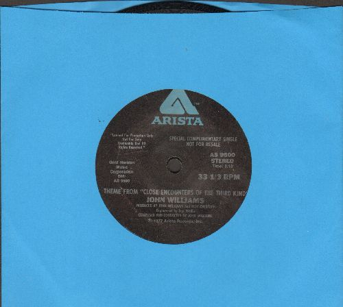 Williams, John - Theme From Close Encounters Of The Third Kind (RARE one-sided 7 inch 33rpm STEREO single with small spindle hole) - EX8/ - 45 rpm Records