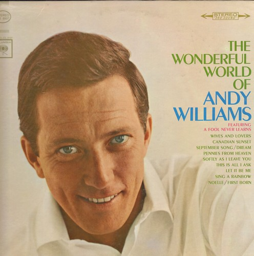 Williams, Andy - The Wonderful World Of Andy Williams: A Fool Never Learns, Pennies From Heaven, Let It Be Me, Softly As I Leave You (Vinyl STEREO LP record) - VG7/EX8 - LP Records