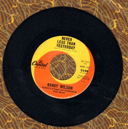 Wilson, Nancy - Never Less Than Yesterday/How Glad I Am - EX8/ - 45 rpm Records