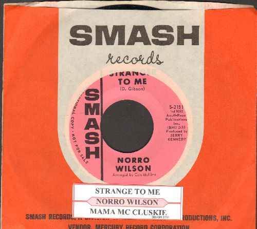 Wilson, Norro - Strange To Me/Mama Mc Cluskie (DJ advance pressing with juke box label and Smash company sleeve) - M10/ - 45 rpm Records
