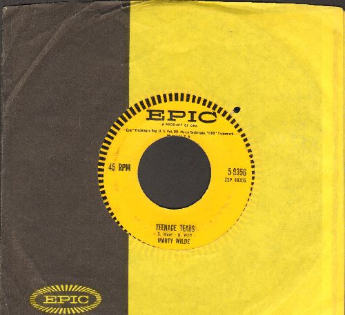 Wilde, Marty - Teenage Tears/Bad Boy (RARE Teen-Idol Gem with Epic company sleeve) - EX8/ - 45 rpm Records