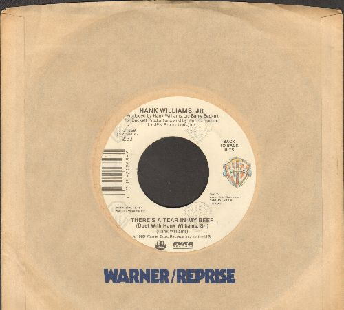 Williams, Hank Jr. - There's A Tear In My Beer/Finders Are Keepers (double-hit re-issue with Warner Brothers company sleeve) - EX8/ - 45 rpm Records