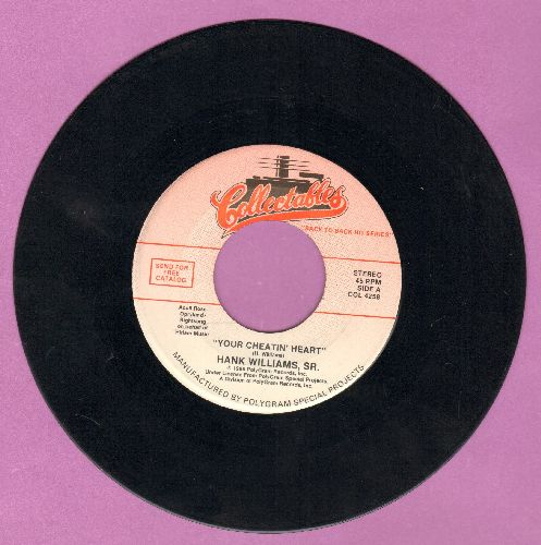 Williams, Hank - Your Cheatin' Heart/Cold, Cold Heart (double-hit re-issue) - EX8/ - 45 rpm Records