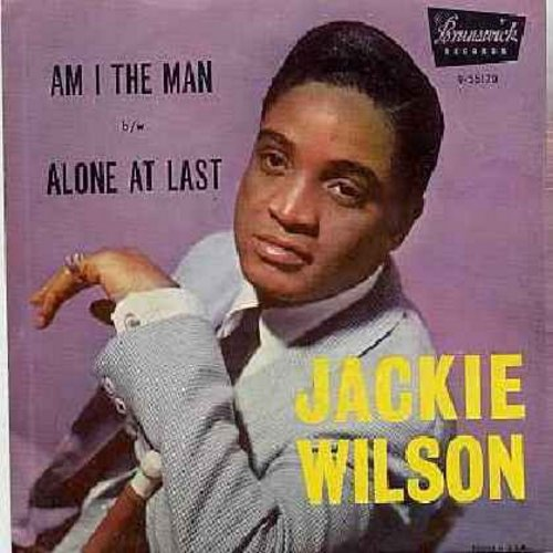 Wilson, Jackie - Am I The Man/Alone At Last (with picture sleeve) - EX8/VG6 - 45 rpm Records