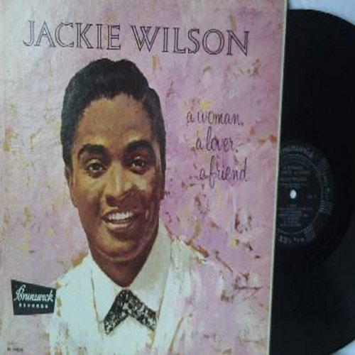Wilson, Jackie - A Woman A Lover A Friend: One Kiss, Night, Am I The Man, Cute Little Girls, All My Love, We Kissed (Vinyl MONO LP record, RARE black label first issue) - EX8/NM9 - LP Records