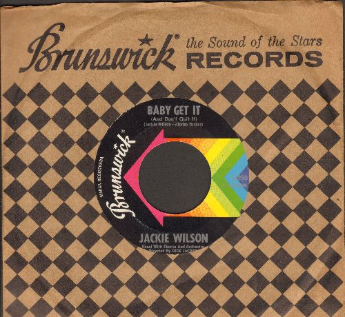 Wilson, Jackie - Baby Get It (And Don't Quit It)/The New Breed (with Brunswick company sleeve) - NM9/ - 45 rpm Records