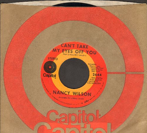 Wilson, Nancy - Can't Take My Eyes Off You/Do You Know Why (with Capitol company sleeve) - NM9/ - 45 rpm Records