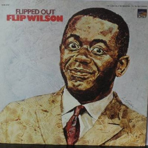 Wilson, Flip - Flipped Out - More comedy routines recorded in front of a LIVE audience. Includes observational humor with references to news, entertainment and other relevant topics of the day. (Vinyl LP record, simulated STEREO) - M10/EX8 - LP Records