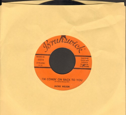 Wilson, Jackie - I'm Comin' On Back To You/Lonely Life  - VG7/ - 45 rpm Records
