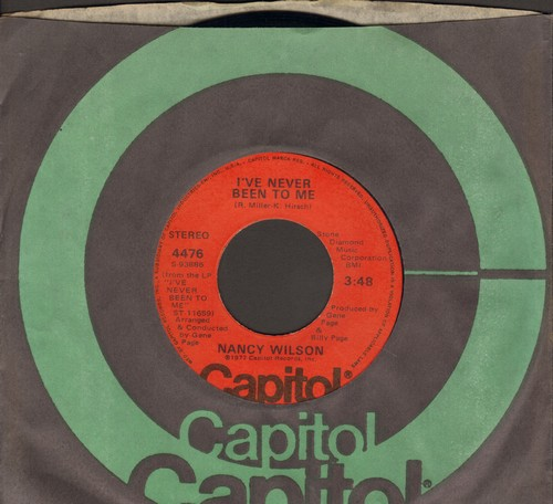 Wilson, Nancy - I've Never Been To Me/Here It Comes (with Capitol company sleeve) - M10/ - 45 rpm Records