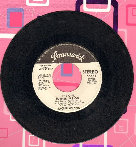 Wilson, Jackie - The Girl Turned Me On (double-A-sided DJ advance pressing) - VG6/ - 45 rpm Records