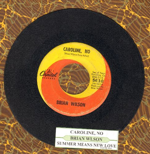 Wilson, Brian - Caroline, No/Sumer Means New Love (with juke box label) - VG6/ - 45 rpm Records
