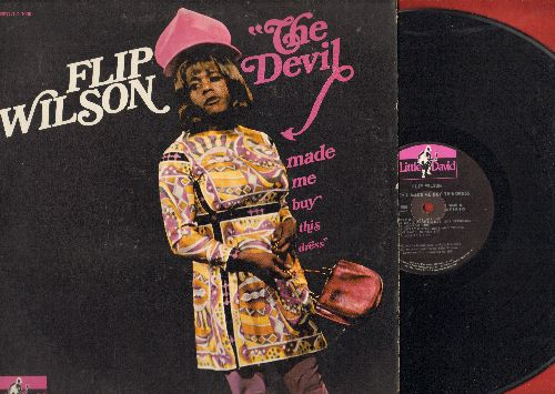 Wilson, Flip - The Devil Made Me Buy This Dress: Flip Wilson (and/or Geraldine Jones) deliver another hilarious set of comedy material. (Original first issue vinyl LP record) - NM9/EX8 - LP Records