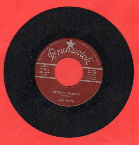 Wilson, Jackie - Doggin' Around/Night (burgundy label early pressing) - VG7/ - 45 rpm Records