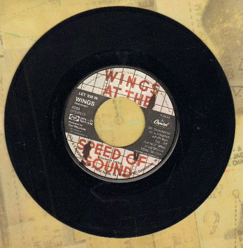 Wings - Let 'Em In/Beware My Love - EX8/ - 45 rpm Records