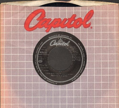 Wings - Let 'Em In/Beware My Love (with Capitol company sleeve) - NM9/ - 45 rpm Records