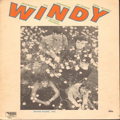 Association - Windy - SHEET MUSIC for the song made popular by The Association, recently featured in TV Series -Breaking Bad-  (This is SHEET MUSIC, not any other kind of media!) - EX8/ - Sheet Music