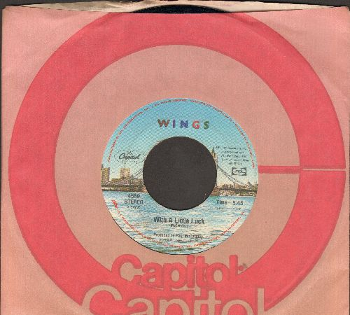 Wings - With A Little Luck/Backwards Traveller - EX8/ - 45 rpm Records