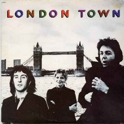 Wings - London Town: With A Little Luck, Don't Let It Bring You Down, Morse Moose And The Grey Goose, Café On The Left Bank, Cuff Link (Vinyl LP record) - NM9/EX8 - LP Records