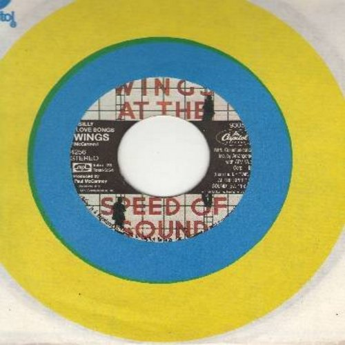 Wings - Silly Love Songs/Cook Of The House (Capitol company sleeve) - EX8/ - 45 rpm Records