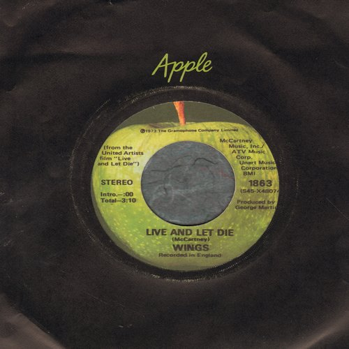 Wings - Live And Let Die (Academy Award Nominated James Bond Film Theme)/I Lie Around - EX8/ - 45 rpm Records