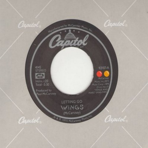 Wings - Letting Go/You Gave Me The Answer - M10/ - 45 rpm Records