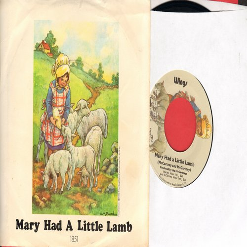 Wings - Mary Had A Little Lamb/Little Woman Love (with picture sleeve) - M10/EX8 - 45 rpm Records