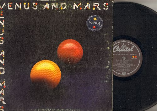 Wings - Venus And Mars: Listen To What The Man Said, Letting Go, Love In Song (Vinyl STEREO LP record, gate-fold cover) - EX8/VG7 - LP Records