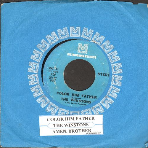 Winstons - Color Him Father/Amen Brother (with juke box label and company sleeve) - NM9/ - 45 rpm Records
