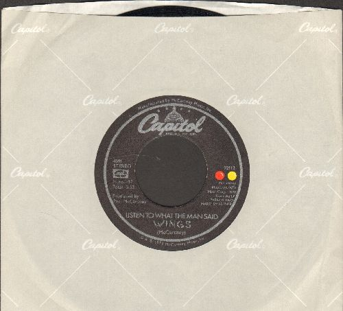 Wings - Listen To What The Man Said/Love In Song (with juke box label) - EX8/ - 45 rpm Records