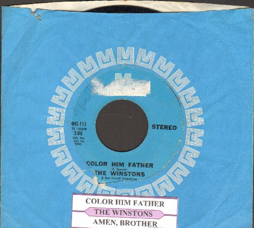 Winstons - Color Him Father/Amen, Brother (with juke box label and Metromedia company sleeve) (sol) - EX8/ - 45 rpm Records