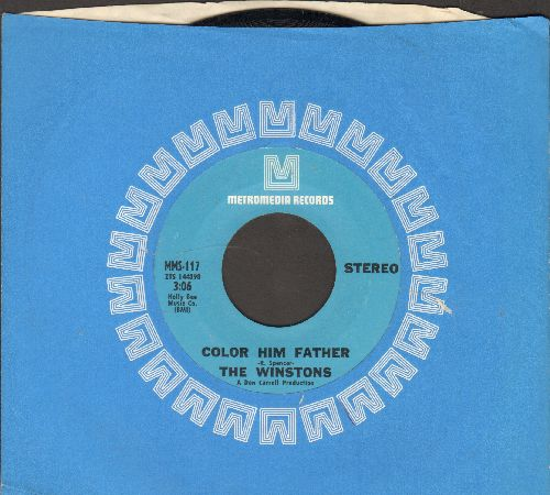 Winstons - Color Him Father/Amen, Brother (with RARE Metromedia company sleeve) - NM9/ - 45 rpm Records