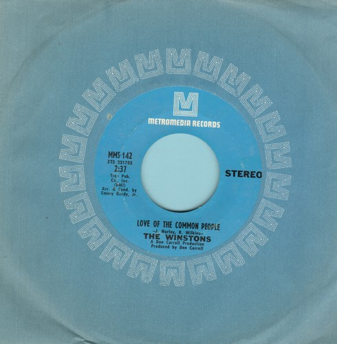 Winstons - Love Of The Common People/Wheel Of Fortune - NM9/ - 45 rpm Records