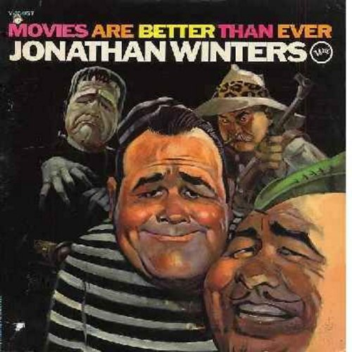 Winters, Jonathan - Movies Are Better Than Ever: Horror Movies, Prison Scene, Hip Robin Hood, Igor & The Monster, other silly stories! (Vinyl MONO LP record) - EX8/VG7 - LP Records